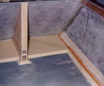 Rear floor area prior to tape